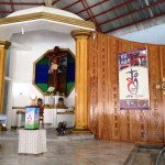 Year of the Poor poster at the chapel in Cartarman, Northern Samar, the Philippines