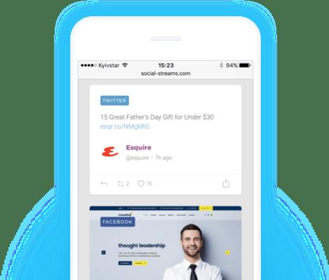 social stream, content aggregator