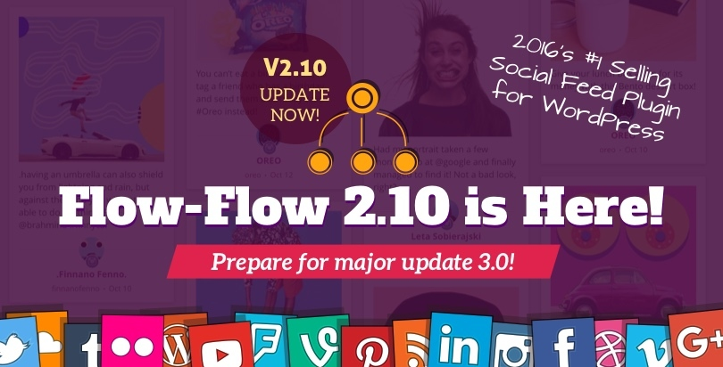 Flow-Flow WordPress Plugin Update 2.0 Featured
