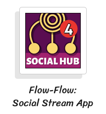 flow flow social stream app icon