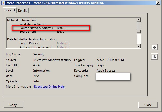 Event Id 3 Security Kerberos Windows 2008 R2