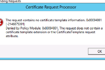 Certification authority certificate templates element not found no certificate templates could be found you do not have permission i efs element not found error dubai security blog on rare occasion when we try to encrypt maxwellsz