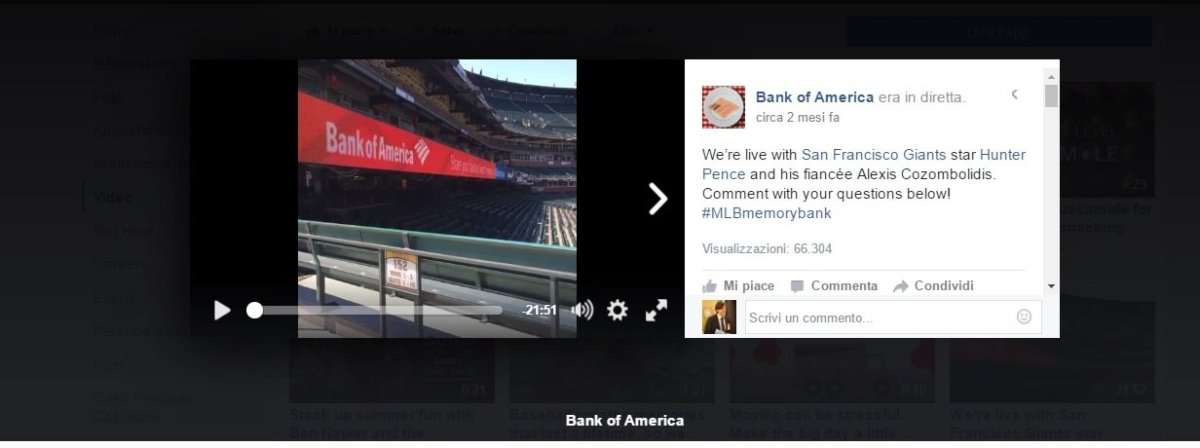 bank of america eventi live