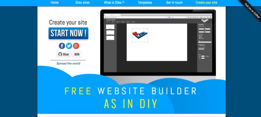 Silex - Top Website Builders To Build Your Own Site In 2017