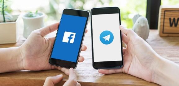 Russian court fines Telegram and Facebook