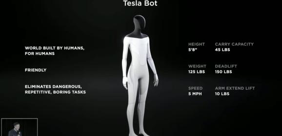 Tesla Unveils Tesla Bot to Perform Menial Tasks