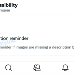 Twitter is working on alt text reminder setting