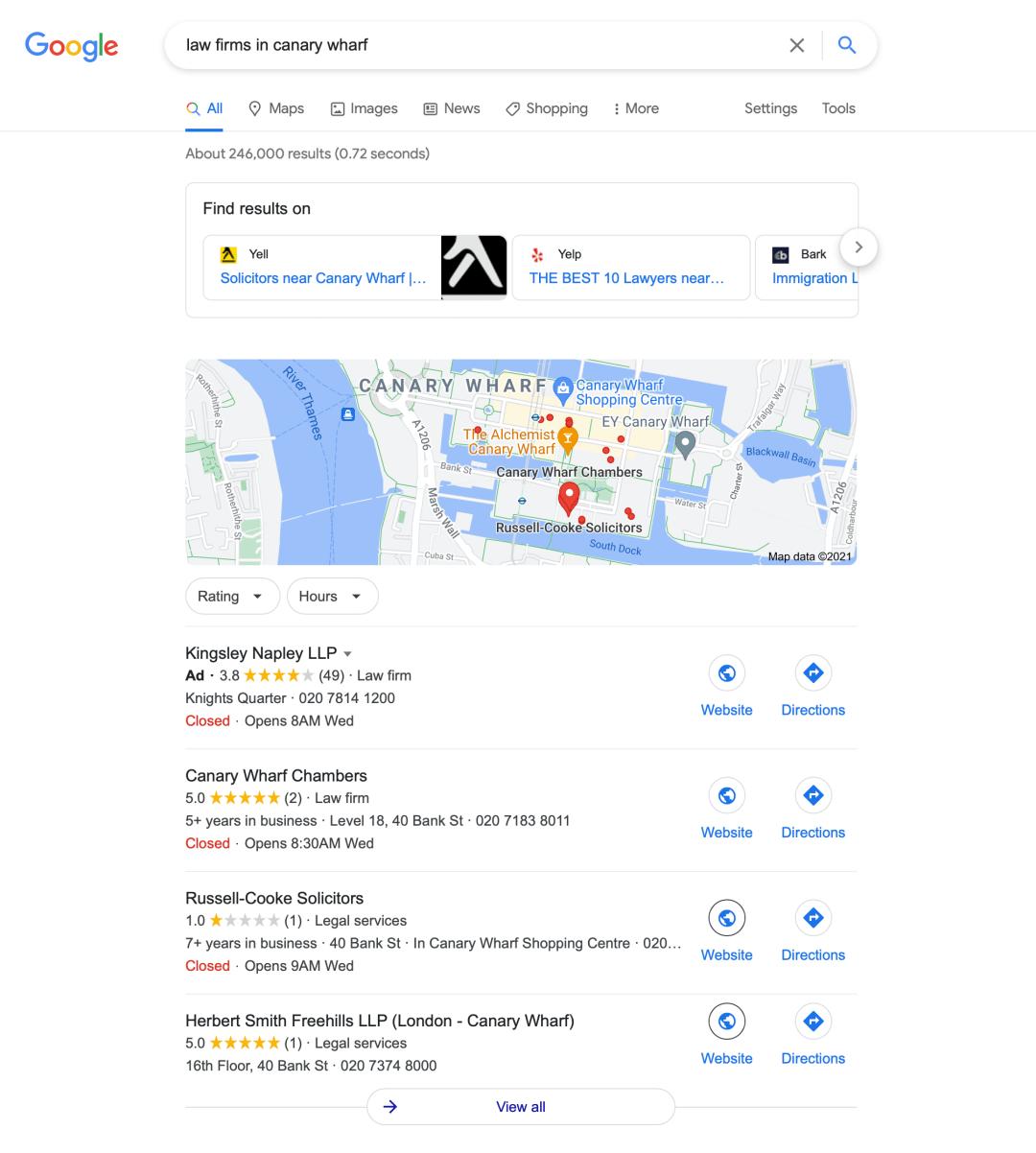Google Local Map Listings - Local SEO
