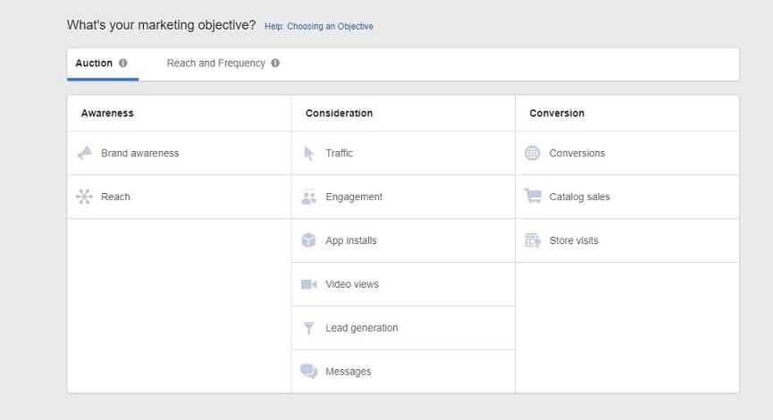 Facebook Campaign Objectives - Facebook Ads Setup