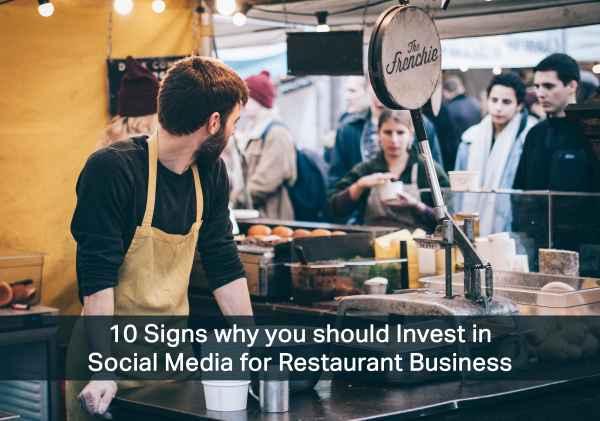 social media for restaurant