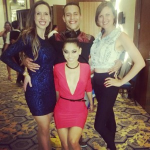 """The """"salsaltas"""" with Kathy Reyes and Francisco Junior"""