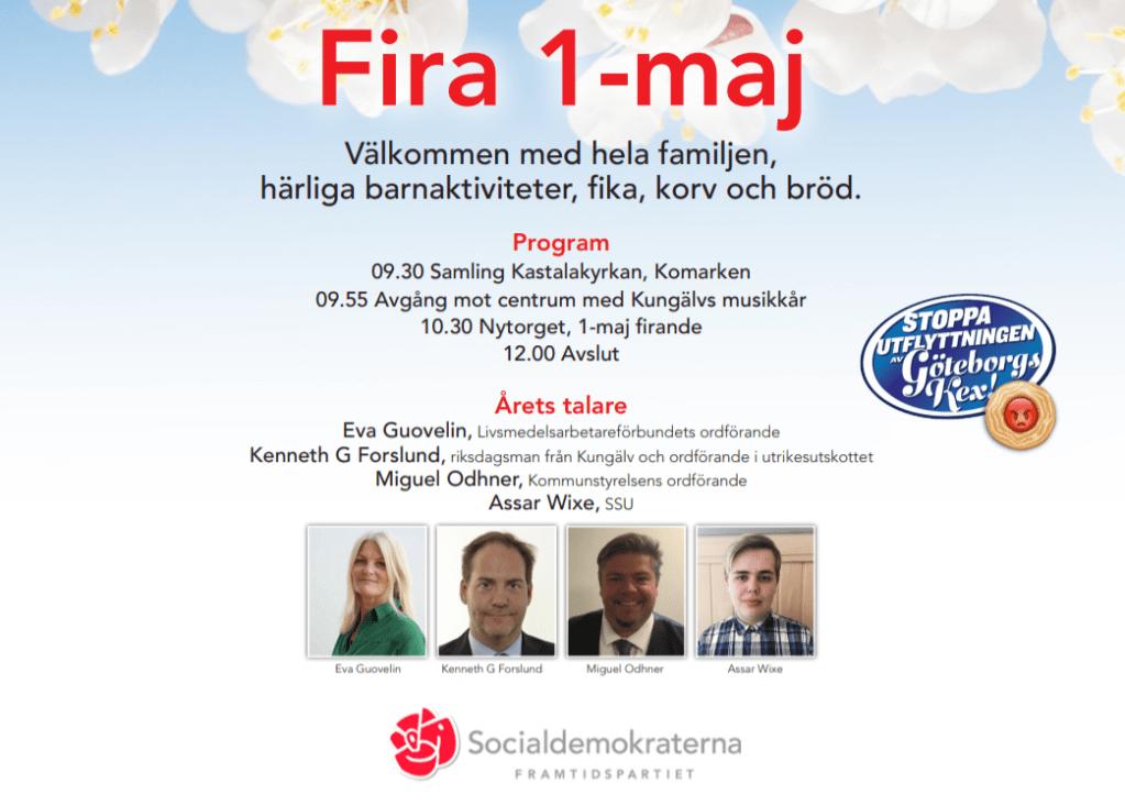Fira 1 Maj 2018 i Kungälv