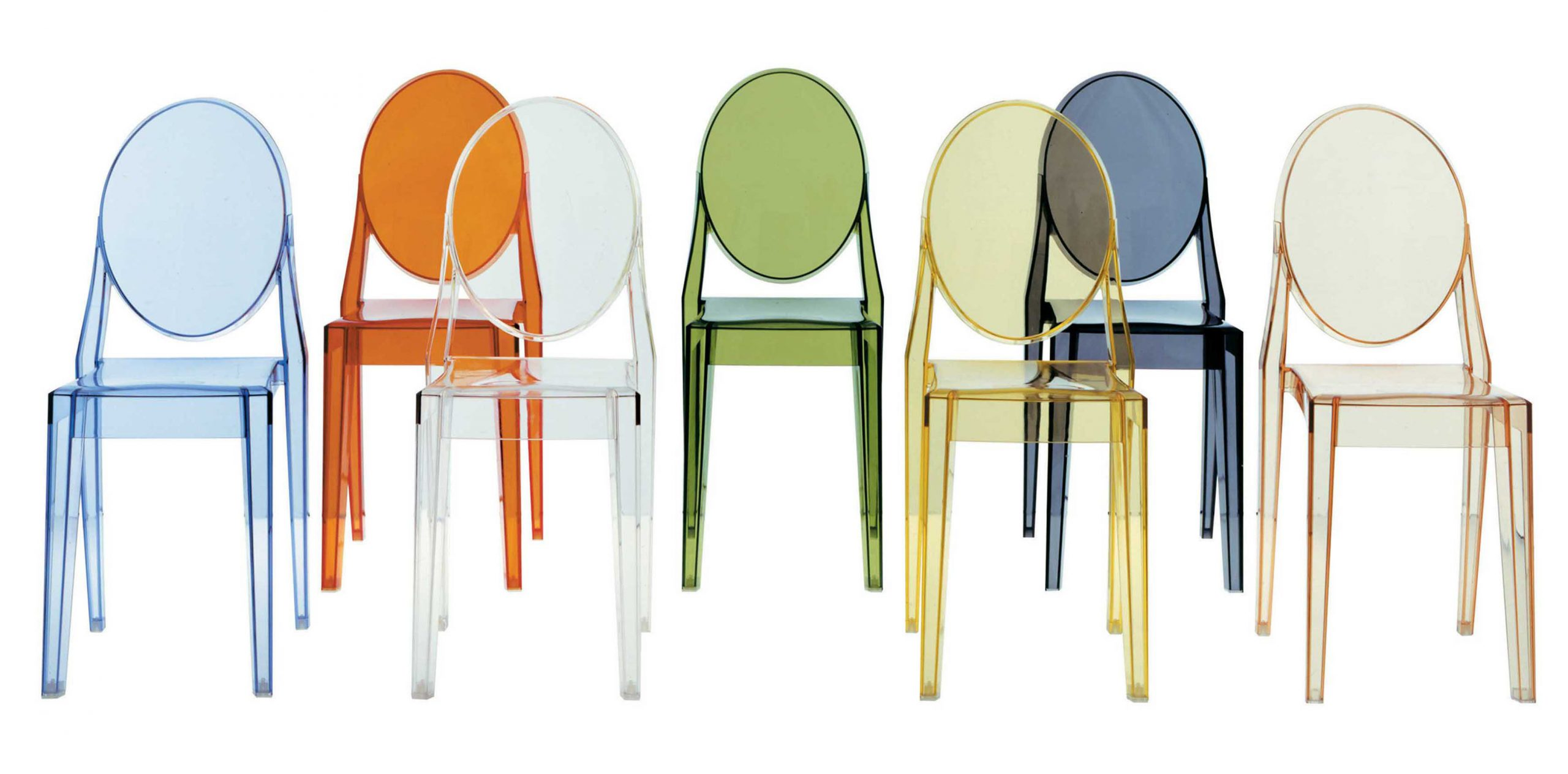 chaise empilable victoria ghost design transparent philippe starck pour kartell