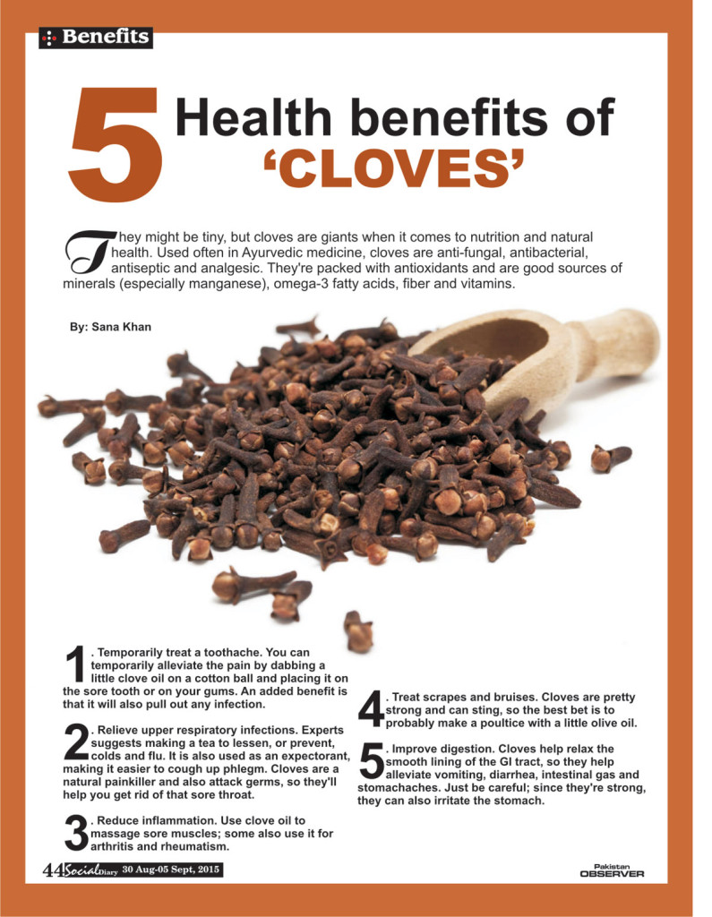 5 Health Benefits Of CLOVES Social Diary