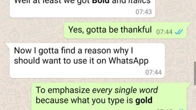 WhatsApp bold i ital