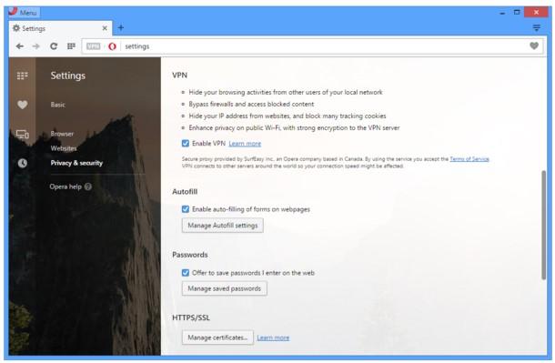 VPN uključivanje