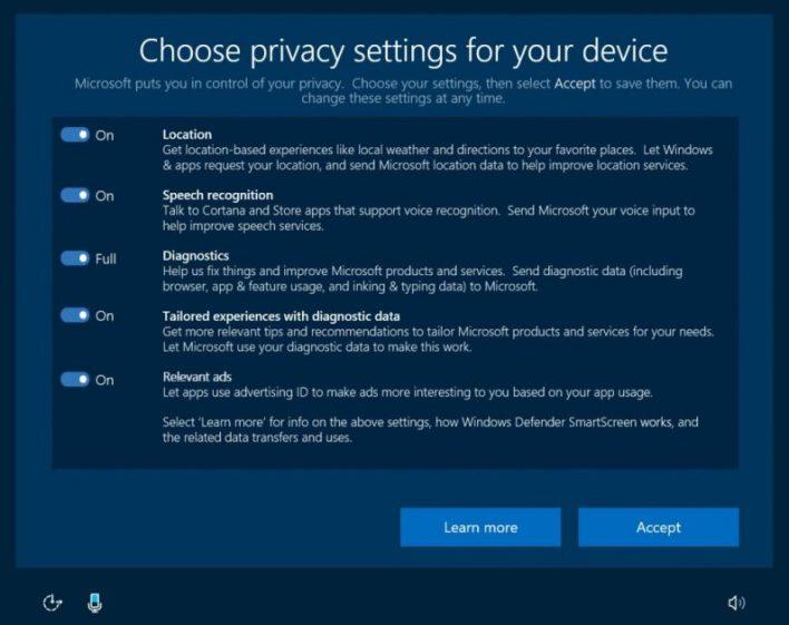 Bolja kontrola privatnosti u Windows 10 Creators Update