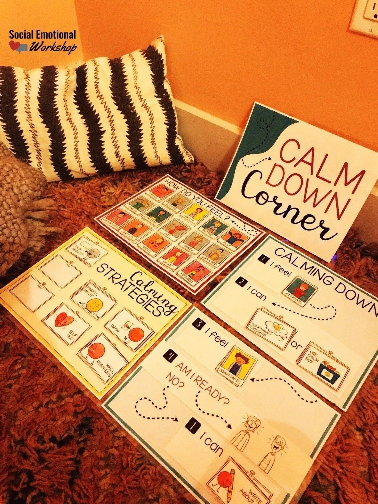 calm corner cozy setup