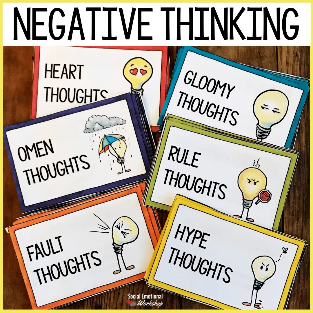 Identify and combat negative thinking activities