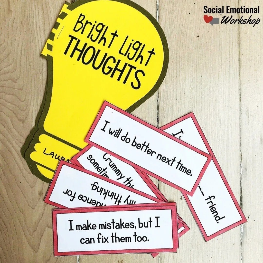 Positive self talk activity to have students develop a phrase they can use when they are overwhelmed by negative thinking.