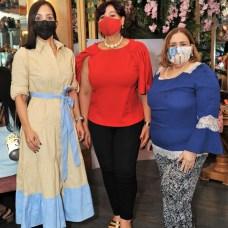 Claudine Nova, Candida Ortega y Mirna Pimentel.