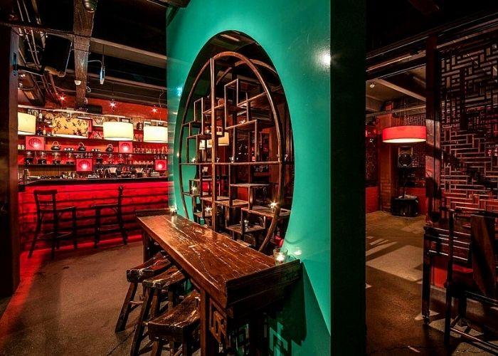 decidant underground bar of golden monkey in basement of hardware lane oriental drinking den part shanghai 1920's themed nightclub