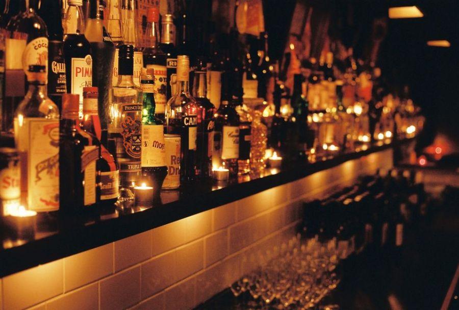 bottles of alcohol at saving grace bar