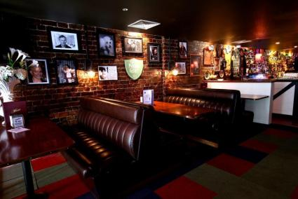 leather booths inside melbourne sports bar on little collins street