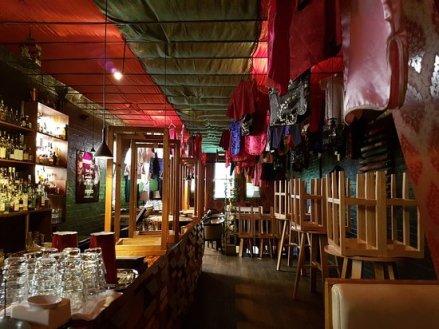 empty cocktail bar