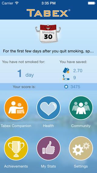 Ex Smoker iOS Screen2