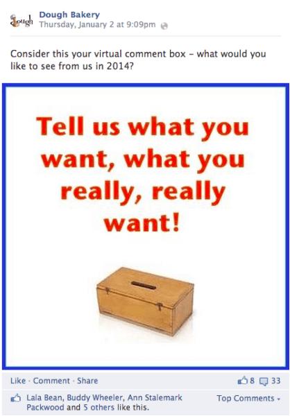 dough virtual comment box