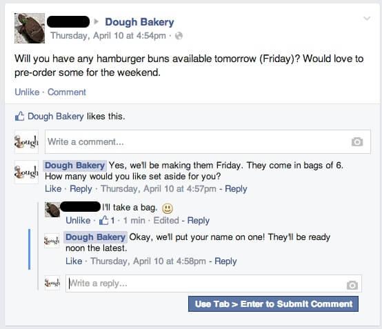social media customer service facebook needs buns