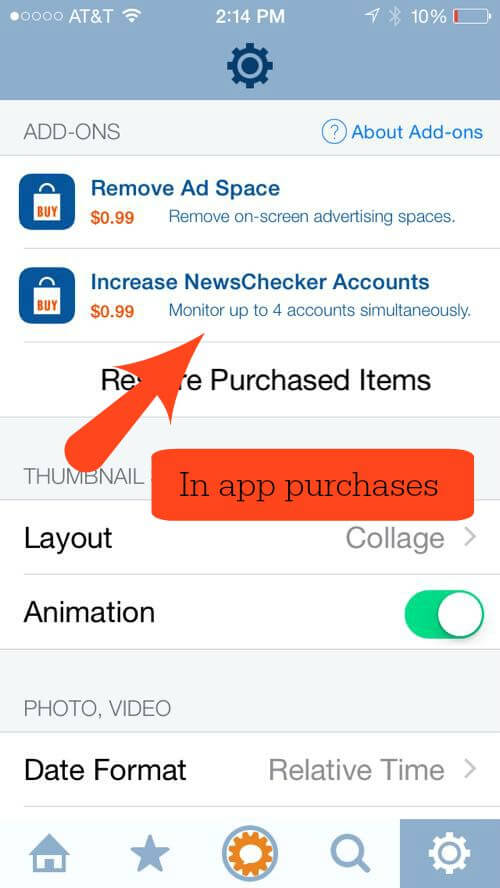 fotogramme in app purchases