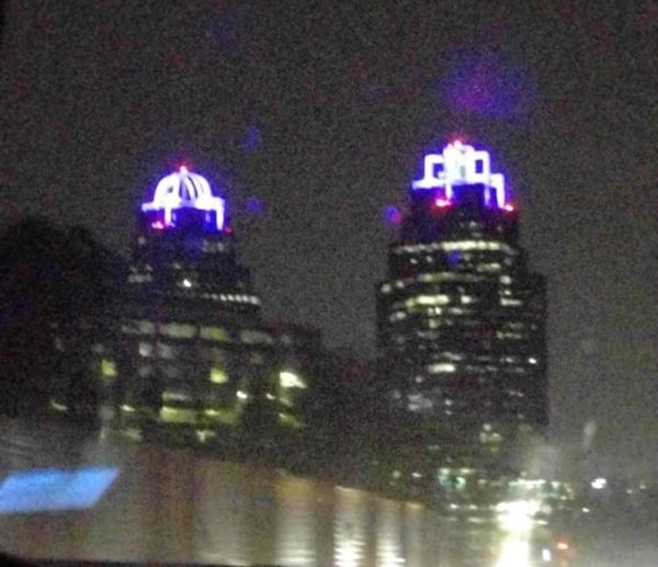 prince tributes king and queen building