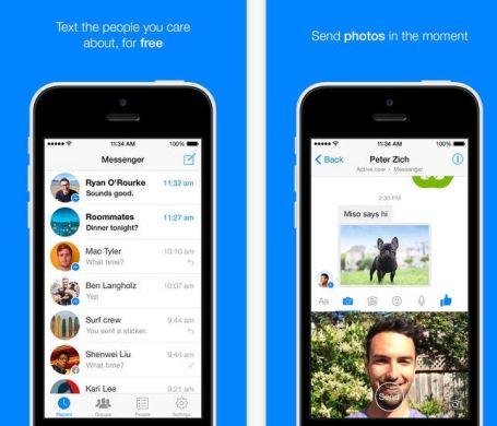 Facebook Messenger send videos