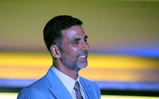 Indian Bollywood actor Akshay Kumar poses during a promotional event for India Luxury Style Week in Mumbai