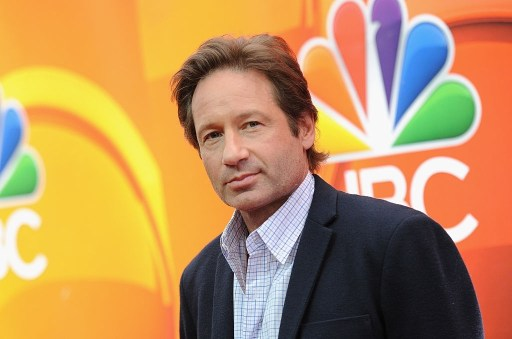 David Duchovny attends the 2015 NBC Upfront Presentation Red Carpet Event at Radio City Music Hall.
