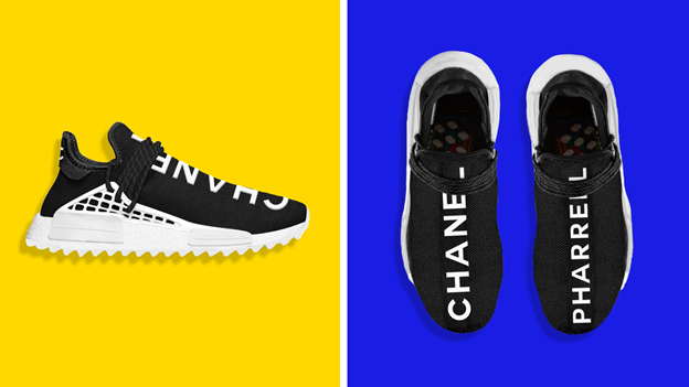 new products 8989b 24e1c Pharrell x Chanel x Adidas NMD HU