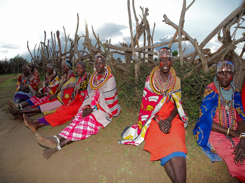 May 2018 Maasai women