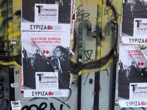 Syriza posters;  July 2013 Some rights reserved by konstruksjon