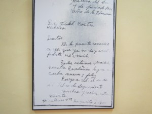letter from a peasant thanking fidel for literacy campaign through which he learnt to read and write