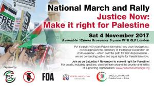 Justice Now: Make it right for Palestine @ Grosvenor Square