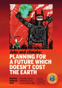 Jobs and Climate: Planning for a future which doesn't cost the earth @ Hamilton House