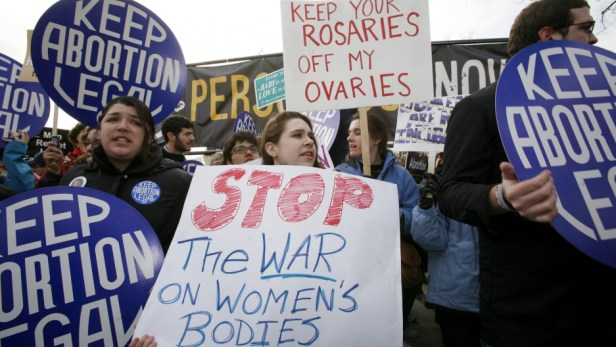 Jan. 2010 Pro-choice (Miley Riley : Reuters)