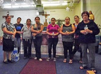 Some of the hunger strikers at the Our Lady of Guadalupe Anglican Catholic Church  (Orlando Sepúlveda | SW)