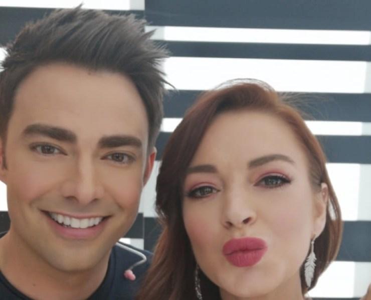 Lindsay Lohan and Jonathan Bennett