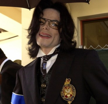 Michael Jackson exits the the Santa Barb
