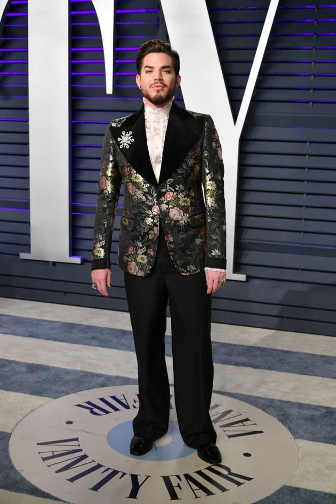 Adam Lambert 2019 Vanity Fair Oscar Party Hosted By Radhika Jones - Arrivals