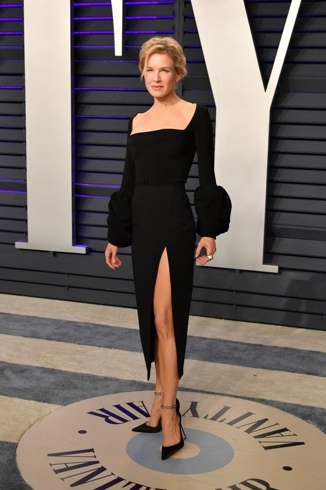 Renee Zellweger 2019 Vanity Fair Oscar Party Hosted By Radhika Jones - Arrivals