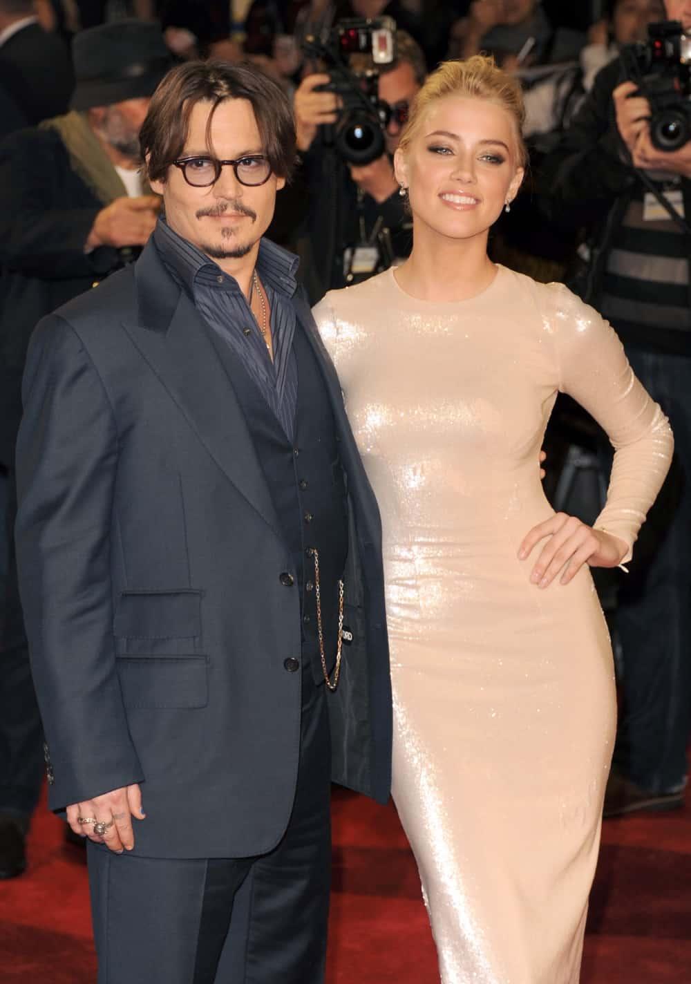 Johnny Depp and Amber Heard The Rum Diary - European Premiere